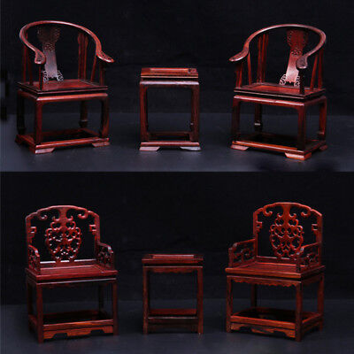1:6 Scale Scene Furniture Mahogany Wooden Tables&Chairs Model Chinese Style