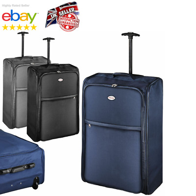 "Extra Large Foldable Suitcase 30"" Lightweight Wheeled Travel Bag Case Luggage UK"