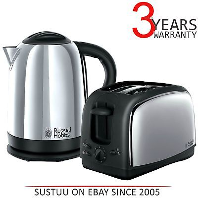Russell Hobbs 21830 Lincoln Twin Pack 2 Slice Toaster & 1.7 Litre Kettle│Silver