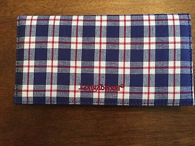 Longaberger  Blue Ribbon With Red Stripe Checkbook Cover- New