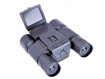 BINOCOLO CON FOTOCAMERA VIDEOCAMERA DIGITALE HD MICRO SD 1080 12x DISPLAY 2""