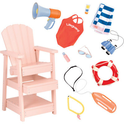Our Generation Lifeguard Play Set Dolls Furniture and Accessory Set NEW