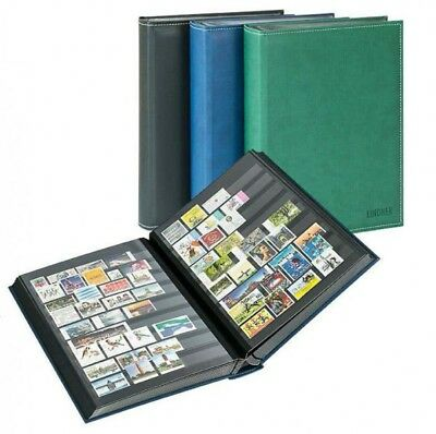 Lindner 1195-G Stockbook DIAMANT with 60 black pages, 230 x 305 mm, green
