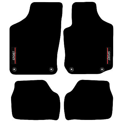 Tailored Carpet Car Floor Mats with logo FOR Vauxhall Corsa C 2001 to 2007