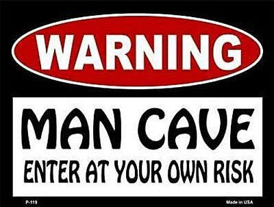 PP3336 WARNING ENTERING RON/'S MAN CAVE Chic Sign Home Decor Funny Gift