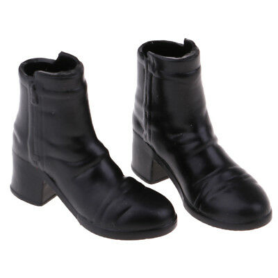 1/6 Scale Woman Fashion Mid-heeled Ankle Boots for 12'' Action Body Doll