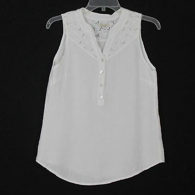 356e736f0aa LINA TOMEI MADE in Italy linen sleeveless shirt Large -  10.00 ...