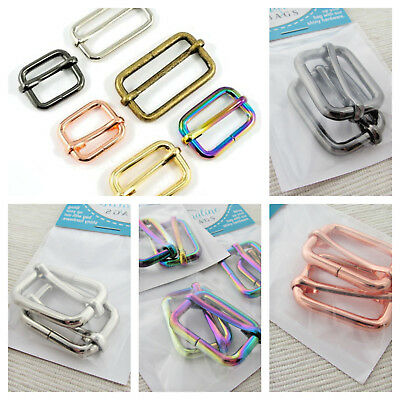 """1"""" ADJUSTABLE SLIDERS - range of finishes - for bags & crafts by Emmaline Bags"""