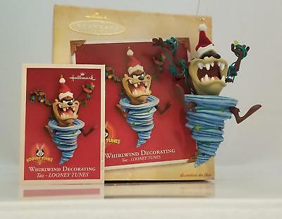 Hallmark Magic Ornament 2004 Whirlwind Decorating - Looney Tunes TAZ QXI4014-SDB