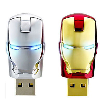 4GB/8GB/16G/64GB Avengers Iron Man Metall USB Flash Pen Thumb Drive Memory Stick