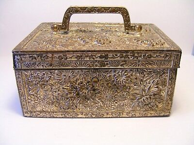 Vintage Japanese Antimony Casket Box..Signed