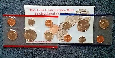 1994 United States Mint Uncirculated Coin Set Philadelphia Denver 12 coins