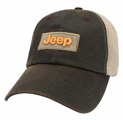 New Jeep Compass Wrangler Willys Rubicon Grand Cherokee Weathered Wax Cloth Hat!