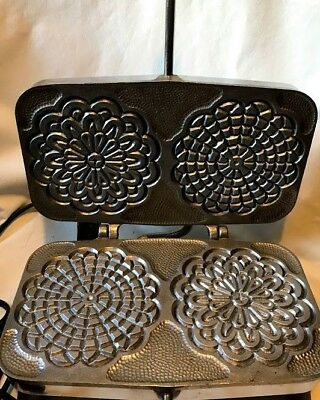 PIZZELLE CHEF 300 Automatic 2 At One Time COOKIE MAKER Vitantonio Mfg Vintage