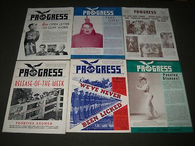 1943 Universal Pictures Progress Magazine Lot Of 12 Different Issues - O 3002