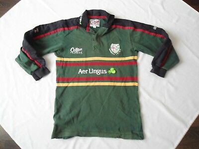 Vintage London Irish Cotton Traders Rugby Shirt Size Small