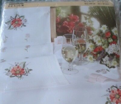 Vintage Rico Design Printed Tablecloth To Embroider Kit