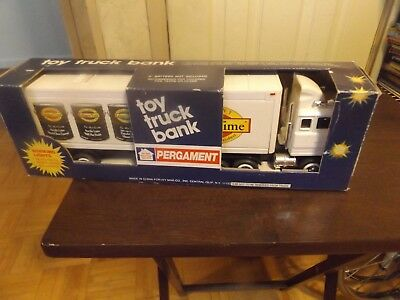 Pergament Toy Truck Bank-IN ORGINAL BOX