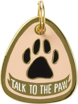"""Metal Pet Charm """" TALK TO THE PAW  """" Dogs Pets Collar Tag  ID Gift Gifts"""