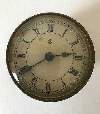 Antique Clock Face And Movement-Untested For Spares And Repairs