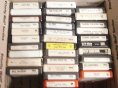 8-Track Tape Lot #2  Neil Diamond,H. Williams, Streisand, W. Nelson (32) Total
