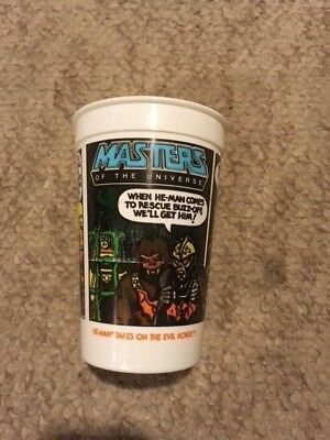 NEW Vintage 1985 PEPSI Burger King Masters Of The Universe He-Man Evil Horde Cup