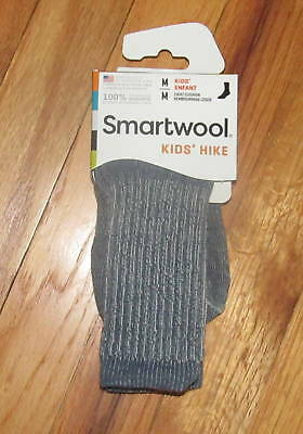 Smartwool Kids Boys Girls Denim Hike Lt Crew Socks M NWT