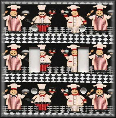 Metal Light Switch Plate Cover Fat Chef Design Fat Chef Decor Kitchen Decor