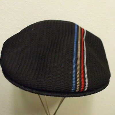 6f5f14dd77ccb KANGOL HAT LITE Felt Wool Pork Pie Navy Blue 21 Inches Circumference ...