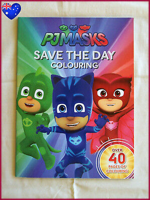 PJMASKS Save the Day Colouring Book - Awesome PJ Masks Colour In - 40+ pages NEW