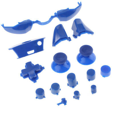 LB RB LT RT Bumper Trigger Buttons Full Set for Xbox One Controller Blue