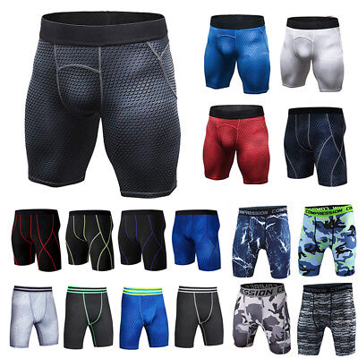 Men Compression Shorts Gym Base Layer Skins Under Camo Sport Pants Trousers