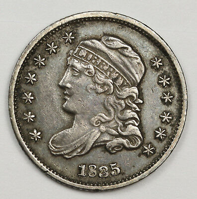 1835 Bust Half Dime.  Small Date.  Small 5.  Natural X.F.  123165