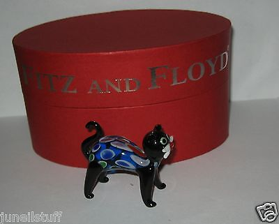 Fitz & Floyd Binks Glass Menagerie Kitten Cat Figurine Limited Edition MINT