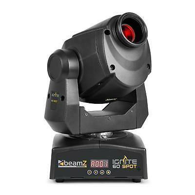 Beamz Spot LED professionnel Projecteur LED Moving Head 60W DMX ou Stand-Alone