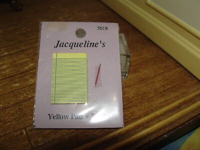 Dollhouse Miniature Yellow Pad & Pencil  NRFP