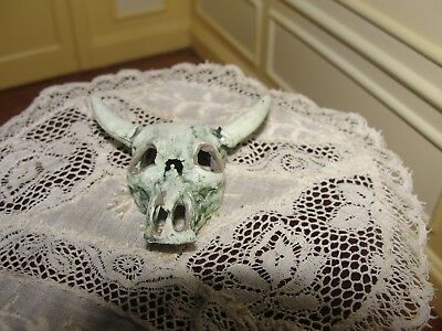 Dollhouse Miniature Cow Skull w Package