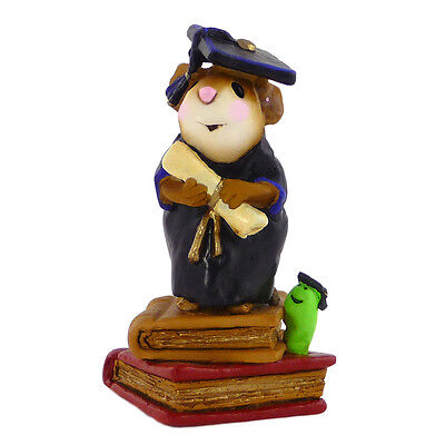 THE GRADUATES by Wee Forest Folk, WFF# M-222, BLACK Robe, Graduate Mouse
