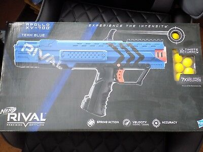 Hasbro Nerf Rival Apollo XV-700 Team BLUE Blaster With 7 Rounds