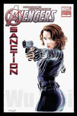 Avengers Black Widow Scarlett Johansson sketch cover variant original art Wu Wei