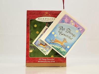 Hallmark Keepsake Ornament 2000 All Things Beautiful - 12 Page Book - QX8351-SDB