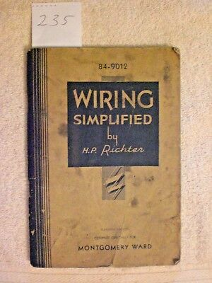 Wiring Simplified by H. P. Richter