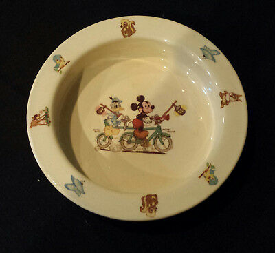 Antique Disney Mickey Mouse Donald Duck Baby Childs Bowl Plate Dish Beswick