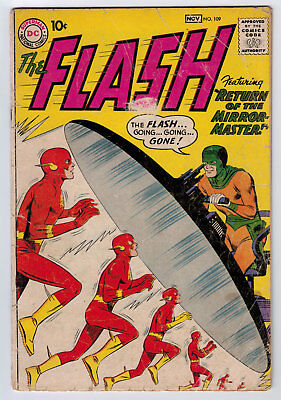 Flash #109 1.5 2Nd Mirror Master 1959 Off-White Pages Key Book 🔑
