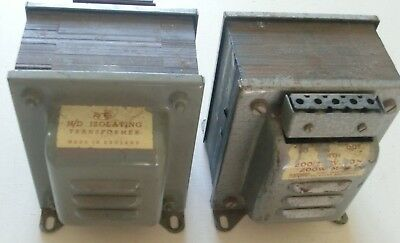 Vintage H/D Isolating Transformer - RS 200/250V 200W Max. 50 cycle