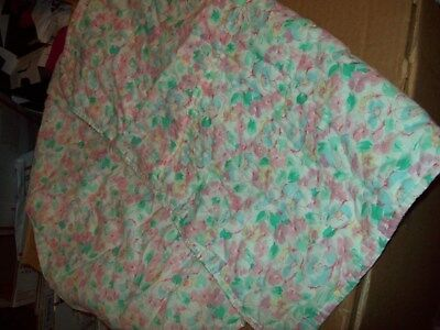 """Baby Tummy Time Playmat Blanket Pink Floral Colors For On The Floor 34"""" X 22"""""""