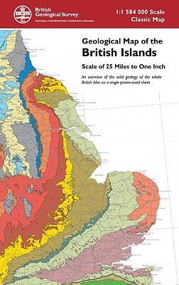 Geological Map of the British Islands - folded