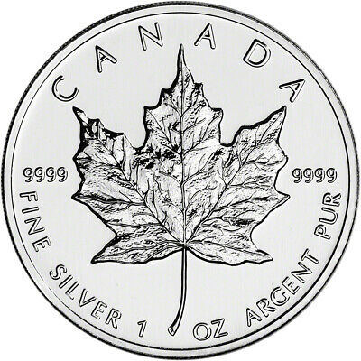 1997 Canada Silver Maple Leaf - 1 oz - $5 - BU