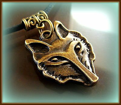 Wolf Head Necklace Pendant - Retro Antique Art Deco Style Canine Wolf