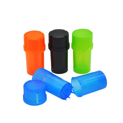 "1PC 1.58""/40MM 3 Parts Spice Mill Plastic Herb Grinder Can Tobacco Storage Case"